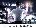 young businessman managing... | Shutterstock . vector #543467284