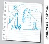scribble lighthouses | Shutterstock .eps vector #54346903