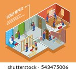 home repair isometric template... | Shutterstock .eps vector #543475006