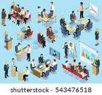 business coaching isometric... | Shutterstock .eps vector #543476518