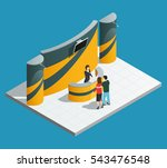 exhibition promotion stand... | Shutterstock .eps vector #543476548