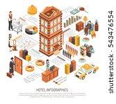 hotel net infrastructure... | Shutterstock .eps vector #543476554