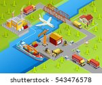 logistic delivery template with ... | Shutterstock .eps vector #543476578