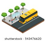 city wireless communication... | Shutterstock .eps vector #543476620
