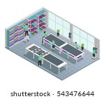clothes factory isometric... | Shutterstock .eps vector #543476644