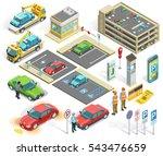 parking isometric elements set... | Shutterstock .eps vector #543476659