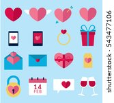 valentines icon set  vector...