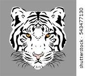 tiger head  vector illustration | Shutterstock .eps vector #543477130