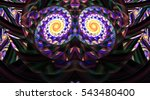 Abstract Symmetrical Mosaic...