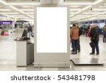 blank billboard indoors of... | Shutterstock . vector #543481798