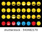 emoticons set  vector... | Shutterstock .eps vector #543482170