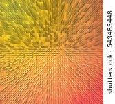 abstract extruded blocks... | Shutterstock . vector #543483448