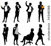 business woman  different... | Shutterstock .eps vector #54348388