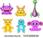 cartoon monster collection set   Shutterstock .eps vector #543488848