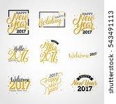 hello new year 2017  happy new... | Shutterstock .eps vector #543491113