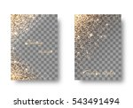 set of backgrounds with light... | Shutterstock .eps vector #543491494