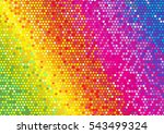 glitter bright rainbow dot on... | Shutterstock .eps vector #543499324