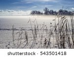 Winter Landscape On Lake