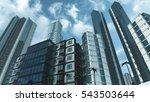 modern skyscrapers and...   Shutterstock . vector #543503644