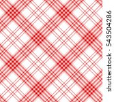 Plaid Check Pattern In Red And...