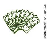 Fan Dollar Bills