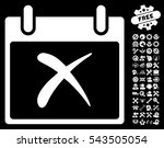reject calendar day pictograph... | Shutterstock .eps vector #543505054