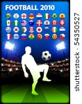 global 2010 soccer match with... | Shutterstock .eps vector #54350527