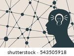 silhouette of a man's head.... | Shutterstock .eps vector #543505918