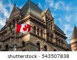 the canadian flag flies before... | Shutterstock . vector #543507838