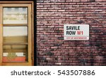 savile row street sign. the... | Shutterstock . vector #543507886