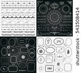 set of decorative black and... | Shutterstock . vector #543508414