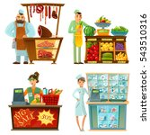 traditional counter service... | Shutterstock . vector #543510316