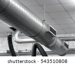 tube of an air conditioning... | Shutterstock . vector #543510808