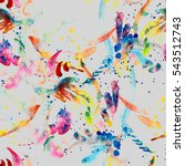 watercolor seamless pattern... | Shutterstock . vector #543512743
