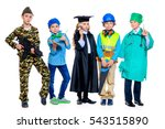 different professions. a group... | Shutterstock . vector #543515890