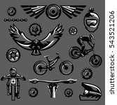 set of black and white elements ... | Shutterstock .eps vector #543521206