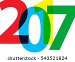 happy new year 2017 on a white... | Shutterstock .eps vector #543521824