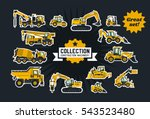 collection of construction... | Shutterstock .eps vector #543523480