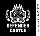 logo defender castle. fortress  ... | Shutterstock .eps vector #543524329