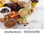 food rich of copper  cu .... | Shutterstock . vector #543531058