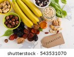 products rich of potassium  k . ... | Shutterstock . vector #543531070