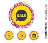 web buttons with confetti... | Shutterstock .eps vector #543532213