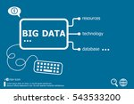 big data related words concept. ... | Shutterstock .eps vector #543533200