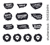 ink brush sale stripes and... | Shutterstock .eps vector #543533494