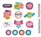 sale stickers  online shopping. ... | Shutterstock .eps vector #543534988