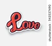 vector illustration. word love. ... | Shutterstock .eps vector #543537490