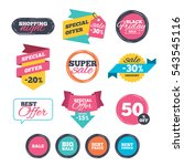 sale stickers  online shopping. ... | Shutterstock .eps vector #543545116