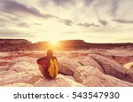 hike in the utah mountains   Shutterstock . vector #543547930