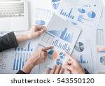 teamwork process  business team ... | Shutterstock . vector #543550120