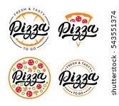 set of pizza hand written... | Shutterstock .eps vector #543551374